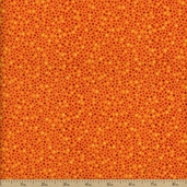 Autumn Reflections Dot Cotton Fabric - Orange
