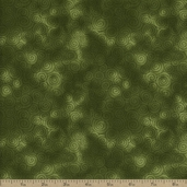 Autumn Reflections Swirl Cotton Fabric - Green