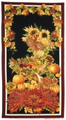 Autumn Splendor Cotton Fabric Panel - Black