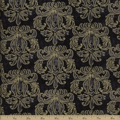 Autumn Treasures Cotton Fabric - Black Q.1086-32622-999SM