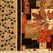 Autumn Treasures Cotton Fabric - Brown Q.1086-32619-128SM