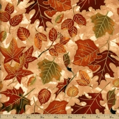 Autumn Treasures Cotton Fabric - Tan Q.1086-32620-157SM