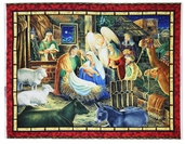 Away in a Manger Cotton Fabric Panel - Multicolor 1649-45741-RG