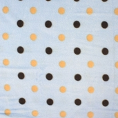 Baby Big Polka Dots Fleece Fabric - Blue