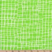 Baby Blocks Checks Cotton Fabric - Green 100-199