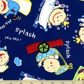 Baby Blocks Cotton Fabric - Blue