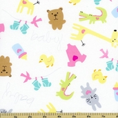 Baby Buddies Toss Cotton Fabric White 35120-1