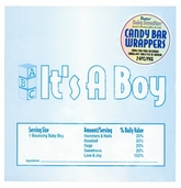 Baby Favorites Collection  Its A Boy Candy Bar Wrappers  24pcs