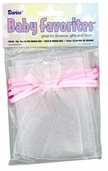 Baby Favorites Collection  Organza Bags in Pink  12pcs
