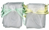 Baby Favorites Collection  Organza Bags in Yellow/Green  24pcs