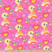 Baby Looney Tunes Cloud 9 Flannel - Pink