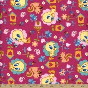 Baby Looney Tunes Nature Lover Flannel - Pink