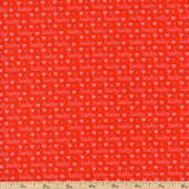 Baby Talk Baby Love Cotton Fabric - Red