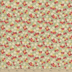 Back Porch Prints Floral Cotton Fabric - Green