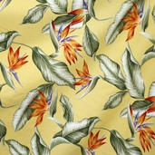 Bahamas Breeze Cotton Fabric  - Yellow  - Clearance