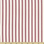 Baker's Dozen Stripe Cotton Fabric  - Wine