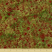 Bali Batiks Cotton Fabric - Christmas J2367-16