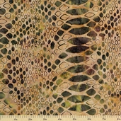 Bali Batiks Cotton Fabric - Crocodile Fabric