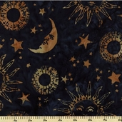 Bali Batiks Cotton Fabric Planets Celestials K2448-549