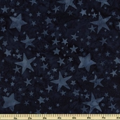 Bali Batiks Cotton Fabric Stars Blueberry K2435-87
