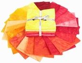 Bali Handpaints Hand-Dyes Fat Quarter Precuts - Creamsicle