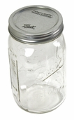 Ball Canning Jars Wide Mouth 1 Quart (6 1/2 in) Case of 12