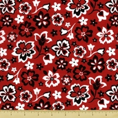 Bandana Floral Cotton Fabric - Red