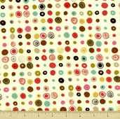 Barcelona Cotton Fabric - Abstract Dot - Cream