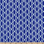 Barnegat Bay Sailors Rope Cotton Fabric - Blue