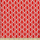 Barnegat Bay Sailors Rope Cotton Fabric - Red
