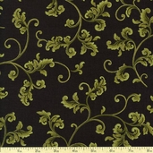 Barolo Medallion Cotton Fabric - Olive