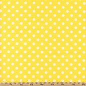 Basic Brights Polka Dot Cotton Fabric - Yellow