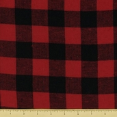 Basic Cotton Flannel - Checker Plaid - Red