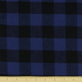 Basic Cotton Flannel - Checker Plaid - Royal Blue