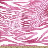 Basic Flannel Zebra Fabric - Pink