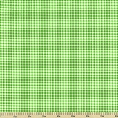 Basic Gingham Cotton Fabric - Lime Green 08676-LIM1