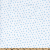 Basics Brights & Pastels Stars Cotton Fabric - Blue 31641-26