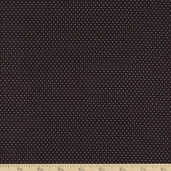 Basics Collection Tiny Dot Cotton Fabric - Black T-00175