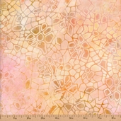 Batavian Batiks Crackle Cotton Fabric - Peach