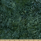 Batavian Batiks Flourish Cotton Fabric - Jade Green Q.1400-22035-747