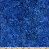 Batavian Batiks Flourish Cotton Fabric - Royal Blue Q.1400-22035-444