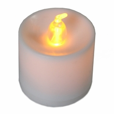 Battery Operated LED Tealights - 12 pc - Amber Flame