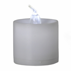Battery Operated LED Tealights - 12pc - White Flame