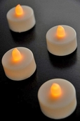 Battery Operated LED Tealights Flickering - Set of 4