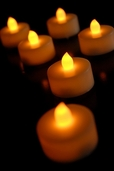 Battery Operated LED Tealights Flickering - Set of 6