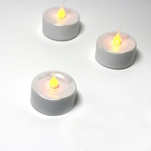 Battery Operated LED Tealights - Pearl White