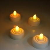 Battery Operated LED Tealights Pkg of 4 - White