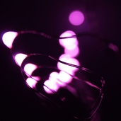 Battery Operated Waterproof LED Light Strand - 6ft. - Pink