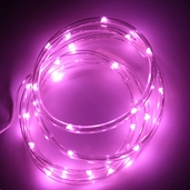 Battery Operated Waterproof LED Tube Light String 6ft. - Pink