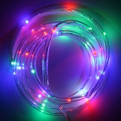 Battery Operated Waterproof LED Tube Light String 6ft. - Red/Green/Blue